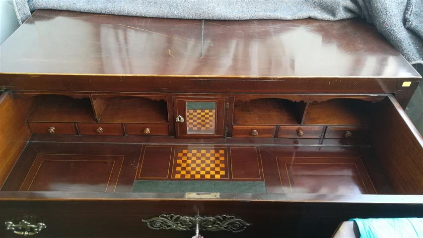 Comfortable desk and game of mahogany, 19th century, empire style