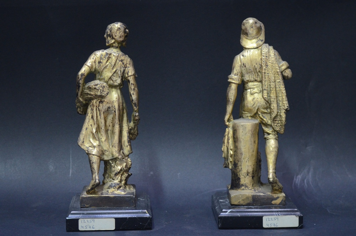 old gold calamine figures