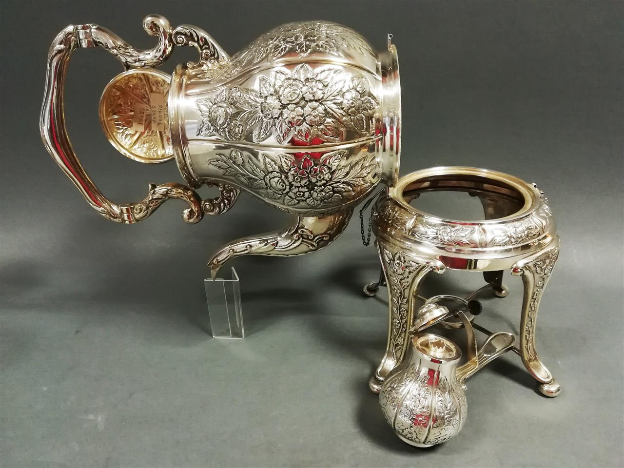 Silver samovar for tea